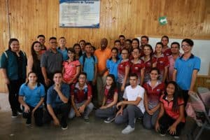Ambassador Haney during his visit at the Colegio Técnico de Puerto Jiménez.