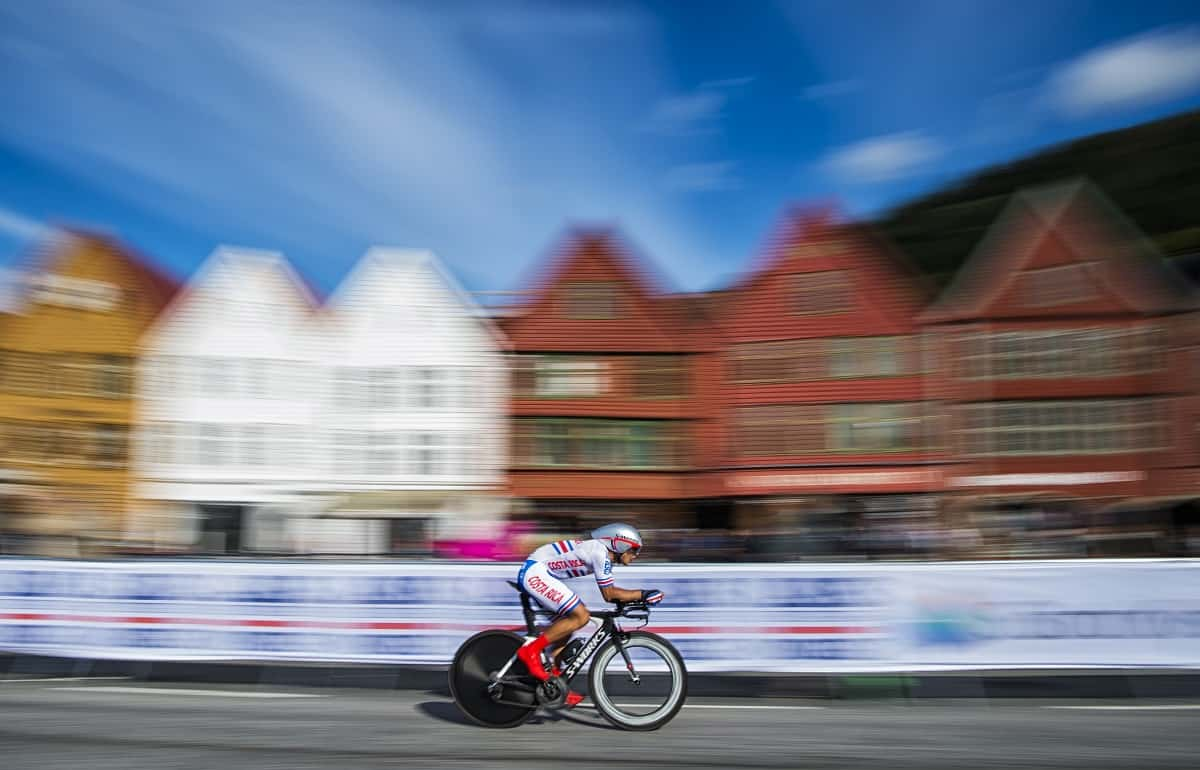 Costa Rican cyclist Jason Andrey Huertas Araya competes in Norway