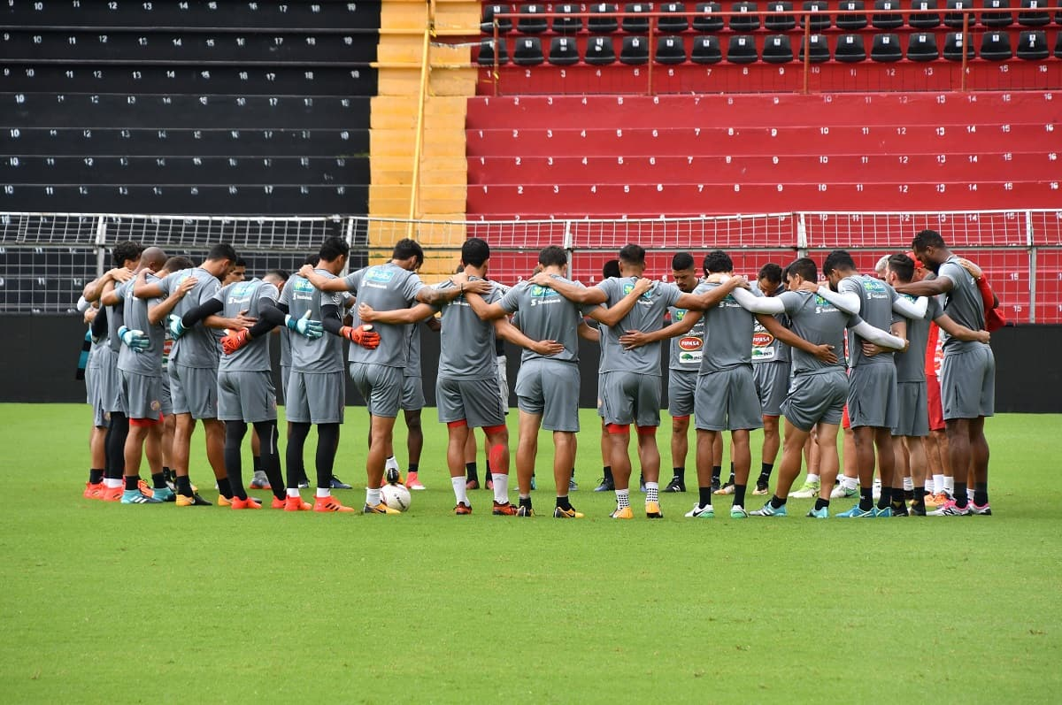 Costa Rica's National Team prepares for a practice.