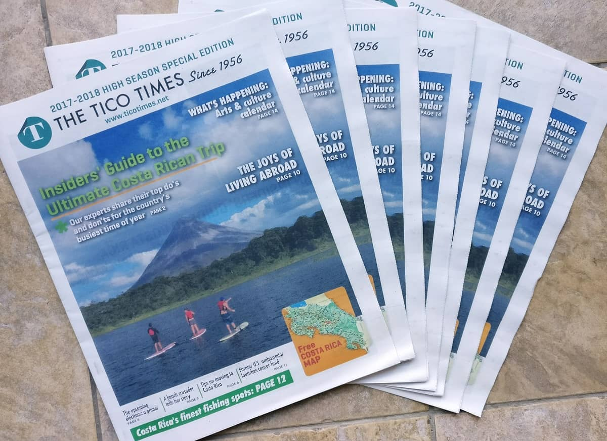Tico Times Printed Paper