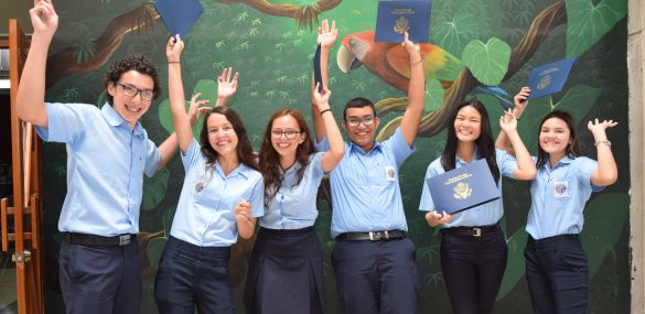 Scholarship recipients from AFS Costa Rica and the Costa Rica USA Foundation