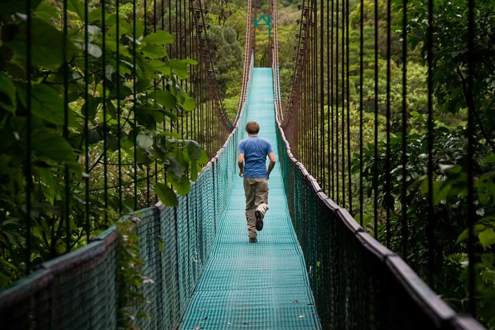 Monteverde's famous hanging bridges provide a wonderful way to explore the cloud forest.