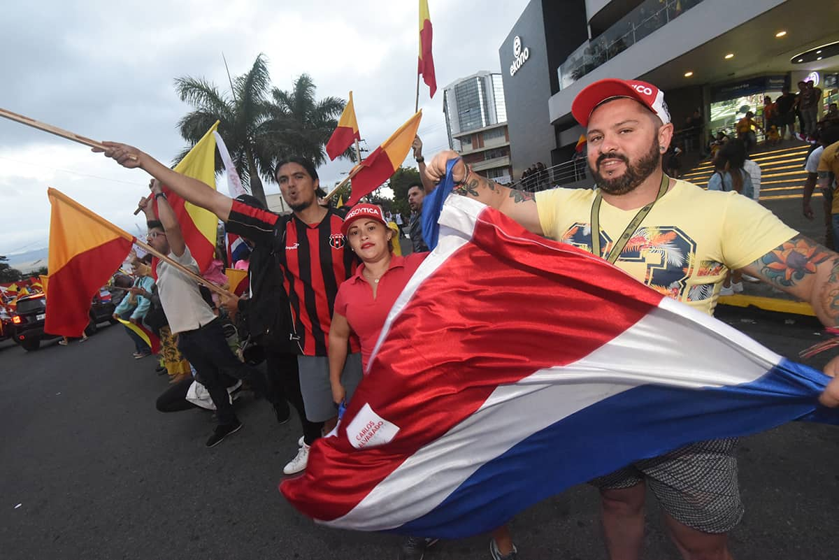 Costa Ricans celebrate ahead of its April 1 presidential runoff elections.