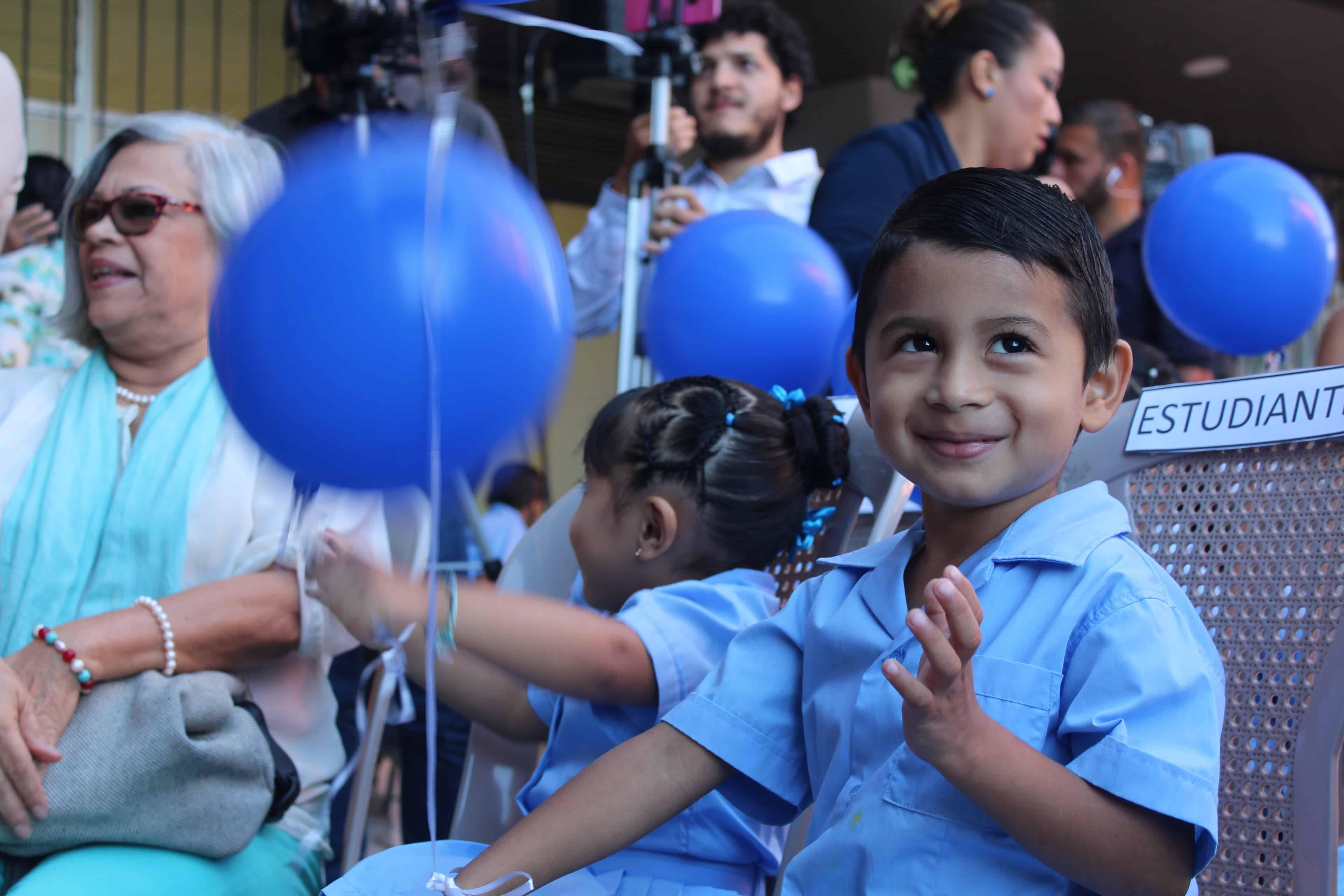 The inauguration of the new school in La Carpio, San José, Costa Rica, on March 21, 2018.