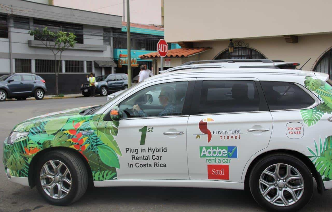 The first plug-in hybrid rental car in Costa Rica