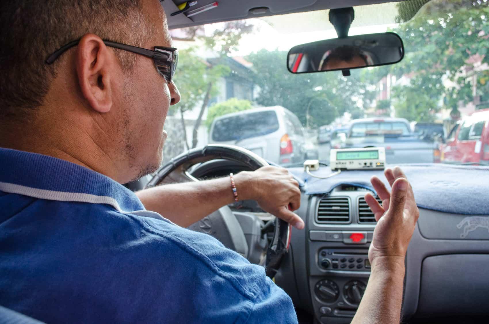 A taxi driver in Costa Rica