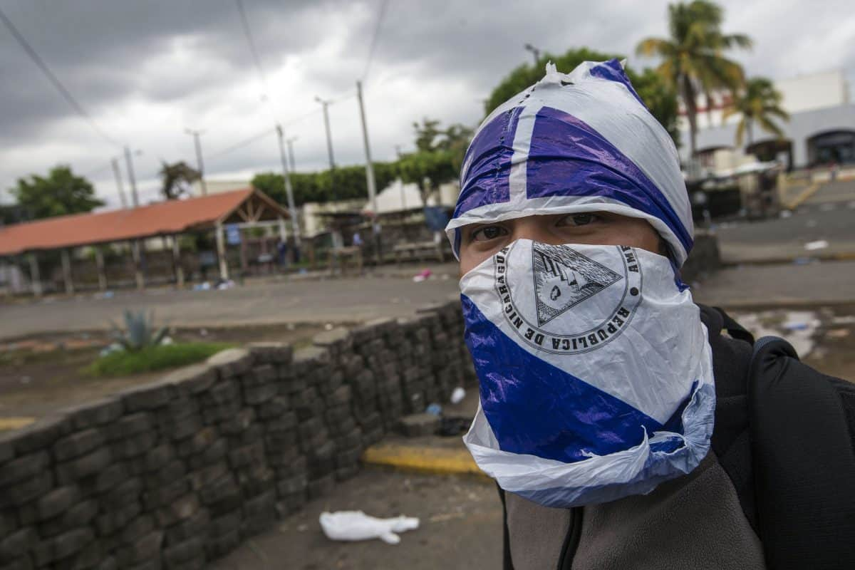 Protests in Managua, Nicaragua