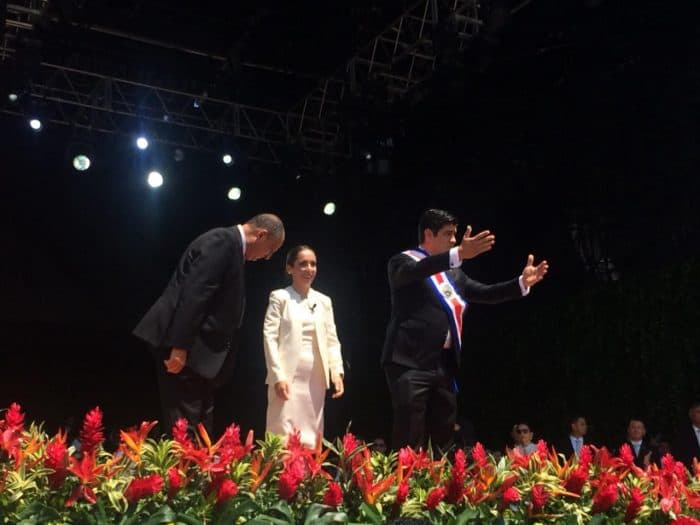 The inauguration of President Carlos Alvarado in Costa Rica