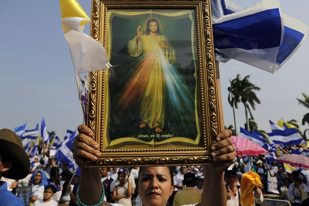 Open-air mass in Managua, Nicaragua