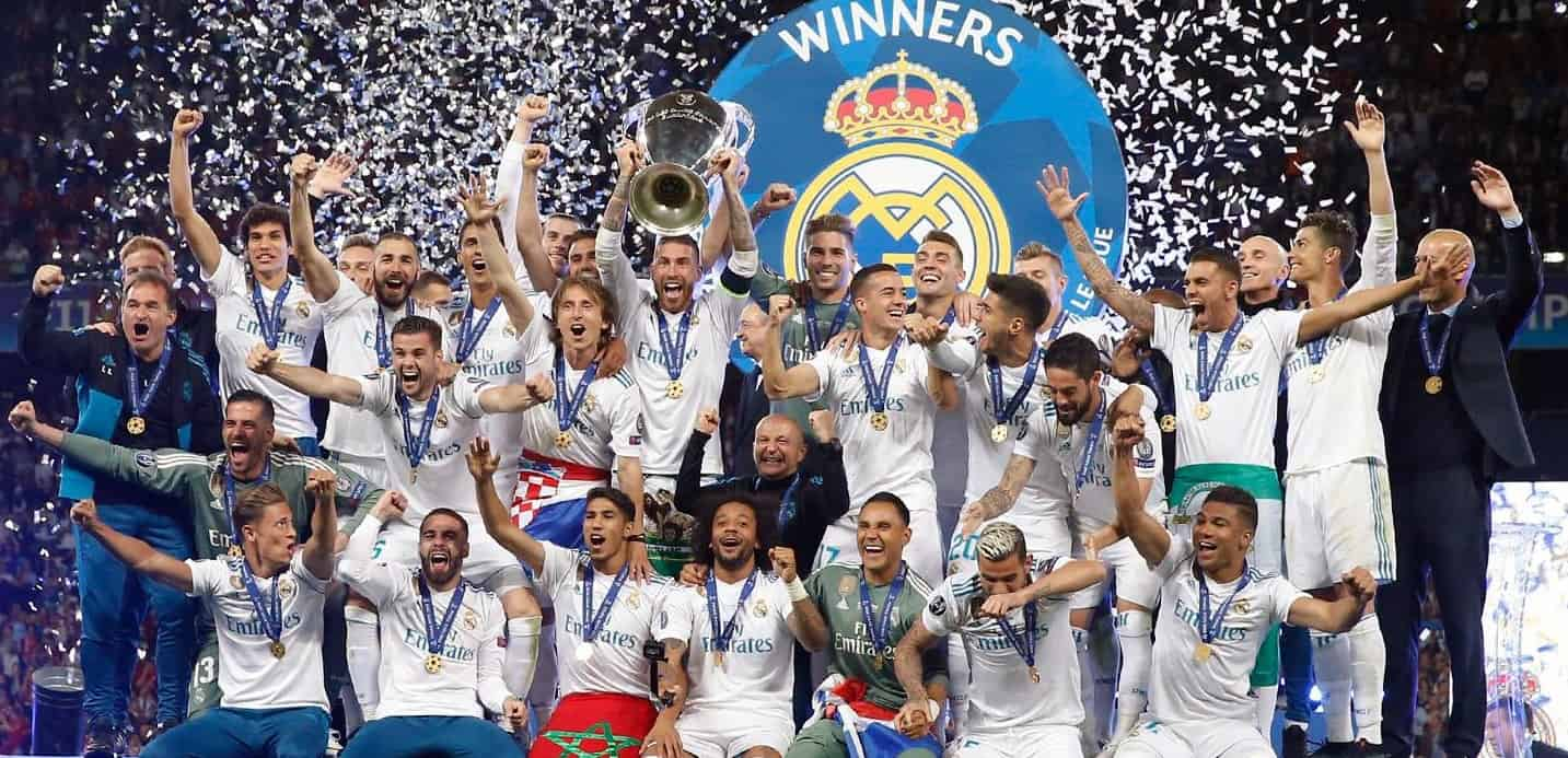 Real Madrid celebrate third consecutive Champions League title