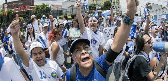 Anti-Ortega protesters in San José, Costa Rica