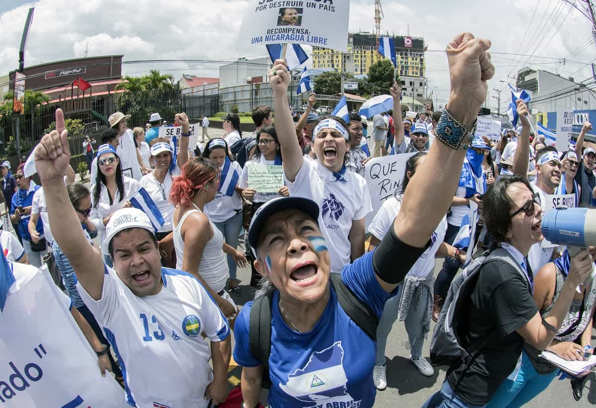 Anti-Ortega protesters in San José, Costa Rica