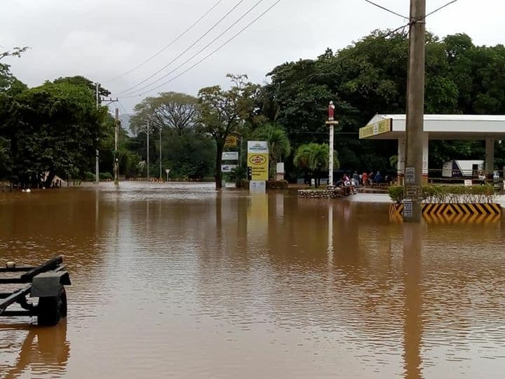 A flooded gas station in Nosara on Oct. 5, 2018.