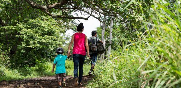 Migrants fleeing Nicaragua