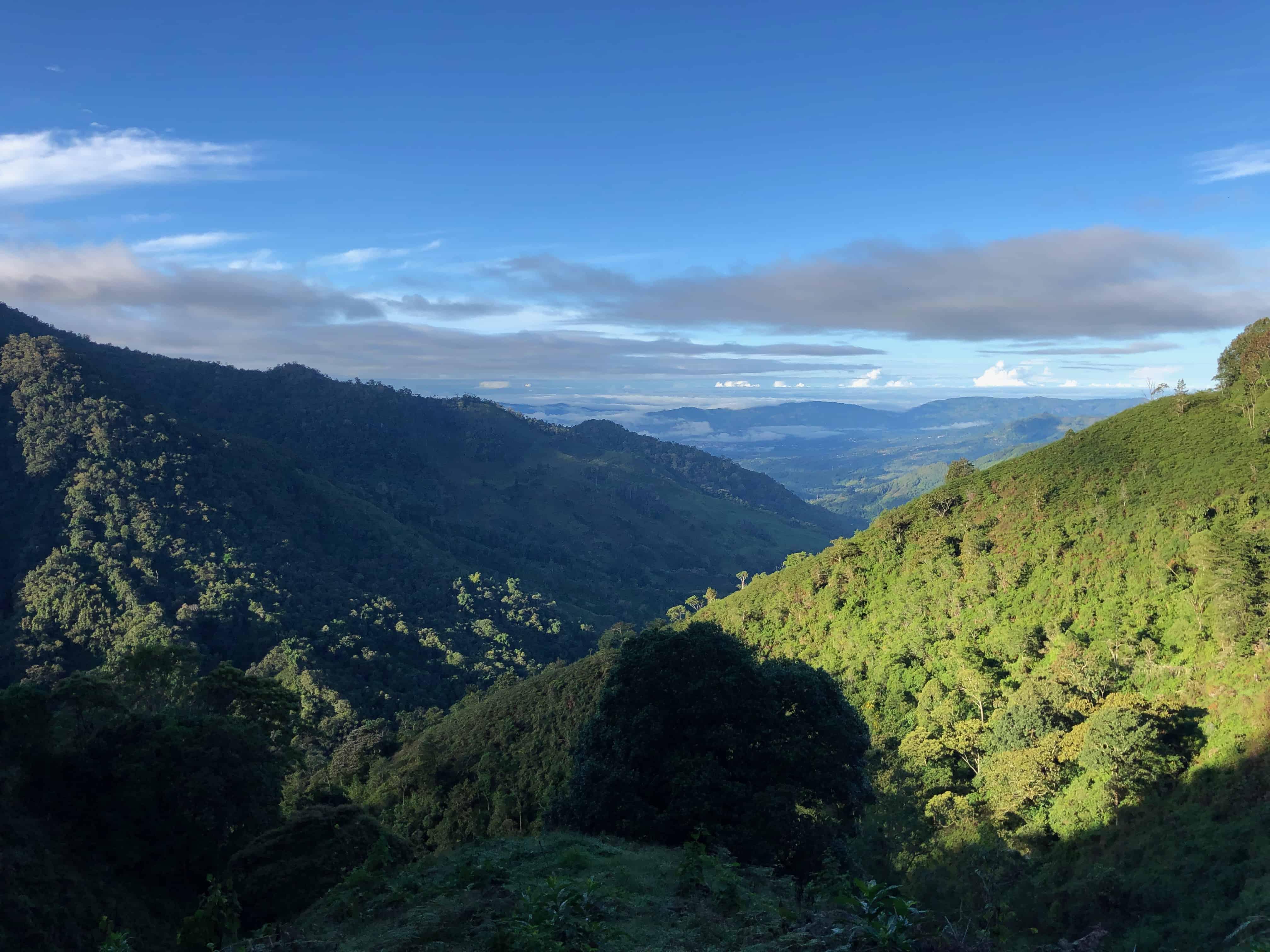 Views climbing Chirripó