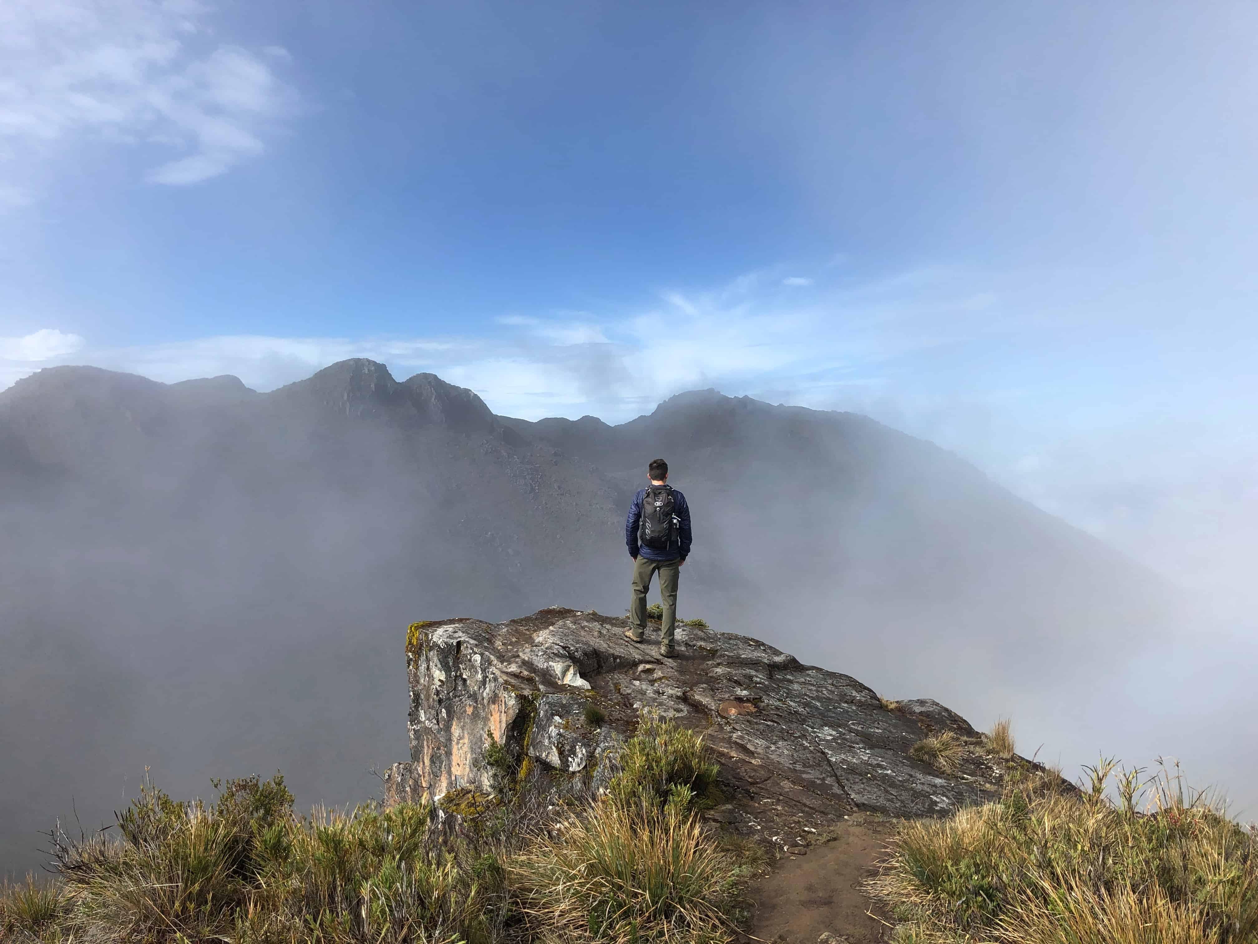 Hiker climbs Cerro Chirripó