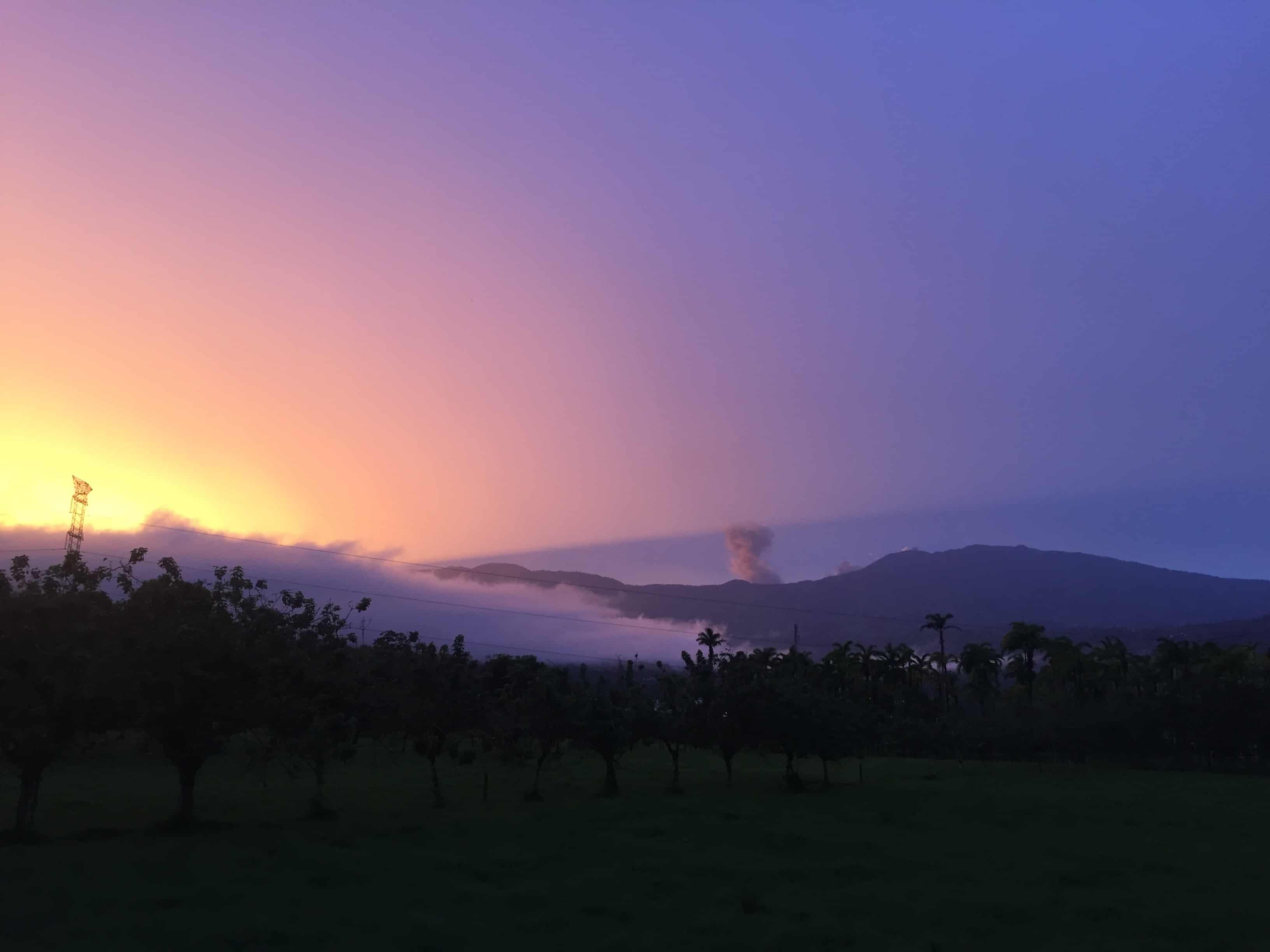 Sunset overlooking Turrialba Volcano.