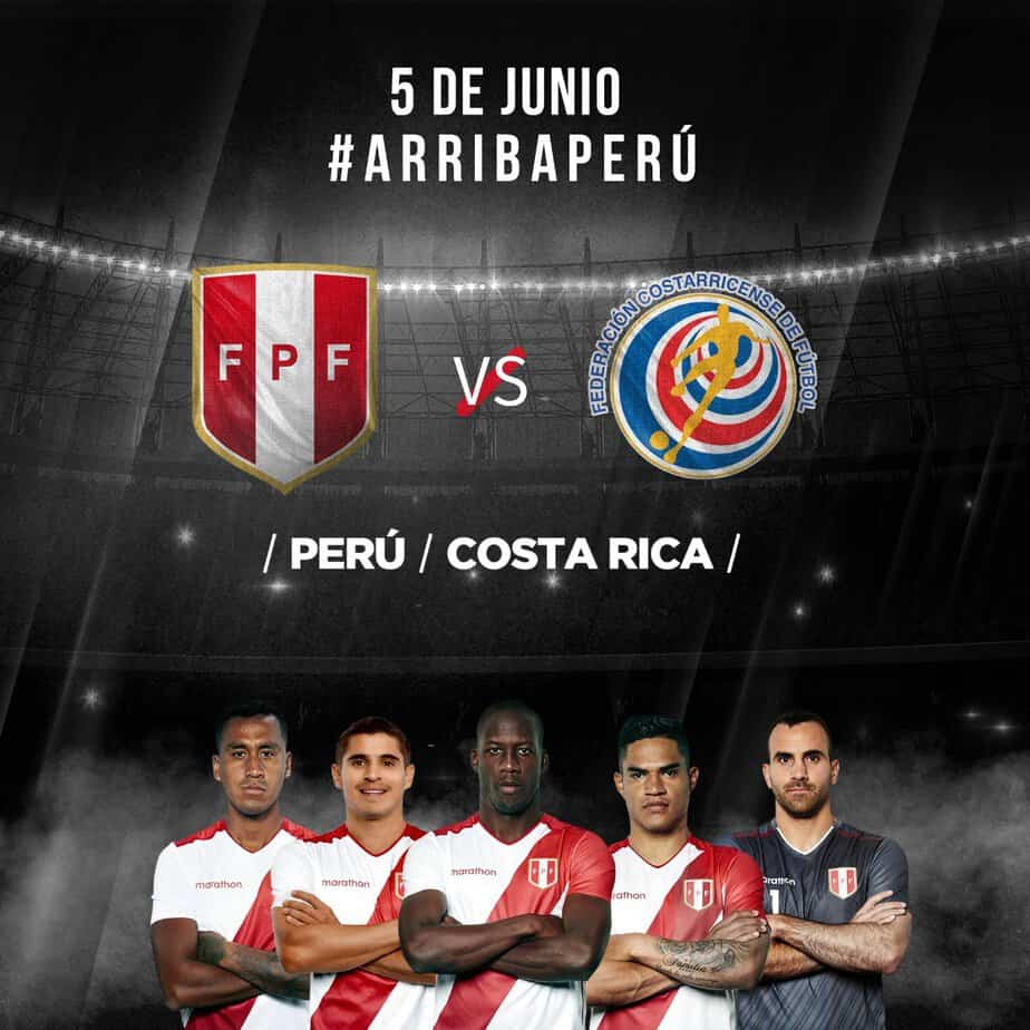 6eb143c0e Peru's men's national soccer team will host Costa Rica on June 5 in Lima,  nine days before the start of the Copa América in Brazil, the Peruvian  Football ...