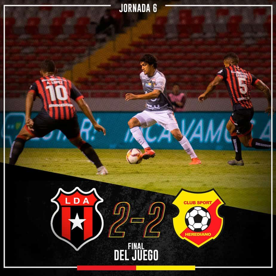 Herediano and Alajuelense at the National Stadium.