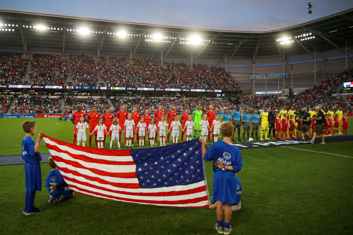 USA vs Guyana at the Gold Cup 2019