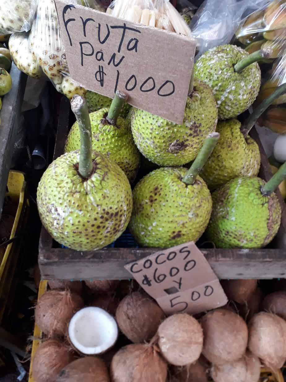 Farmers market breadfruit