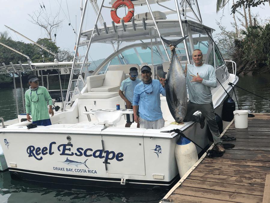 Reel Escape fishing boat in Drake Bay