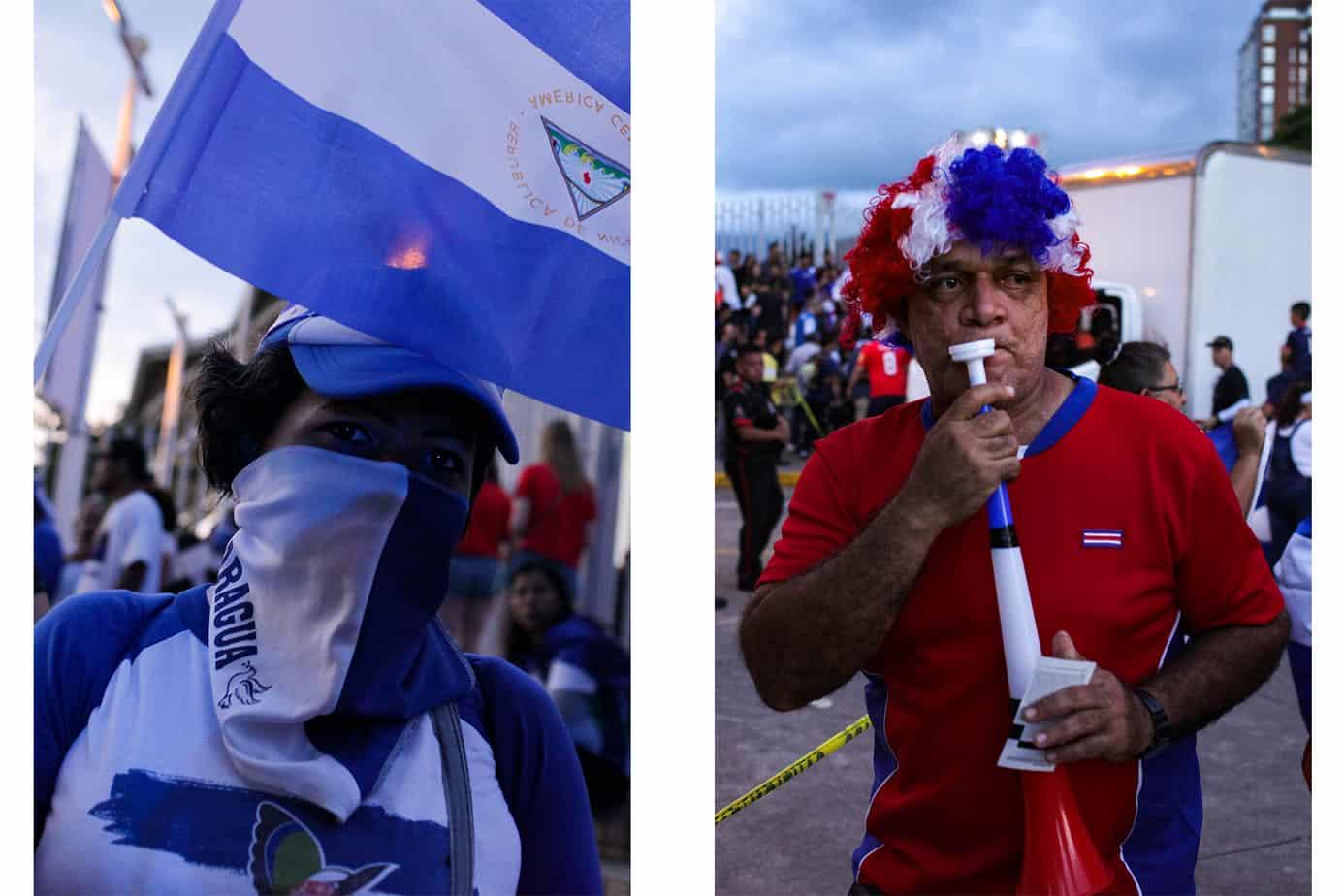Fans outside Estadio Nacional Costa Rica