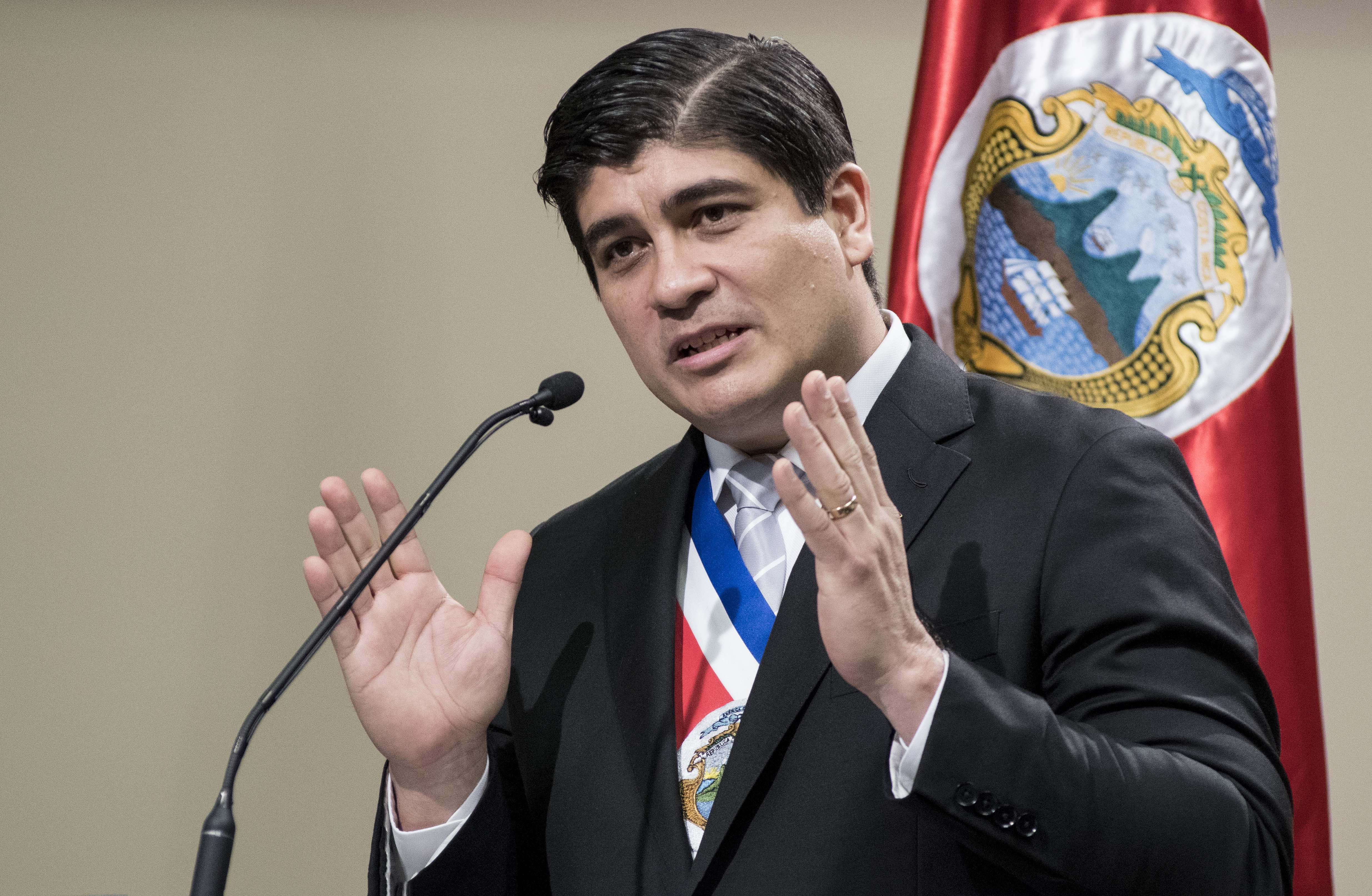Costa Rica President Carlos Alvarado