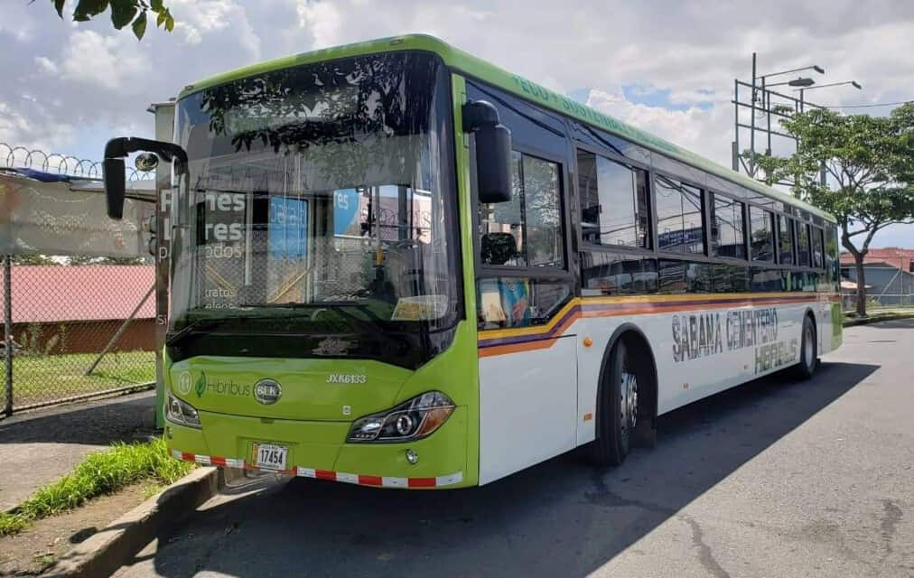 Hybrid bus in San Jose, Costa Rica