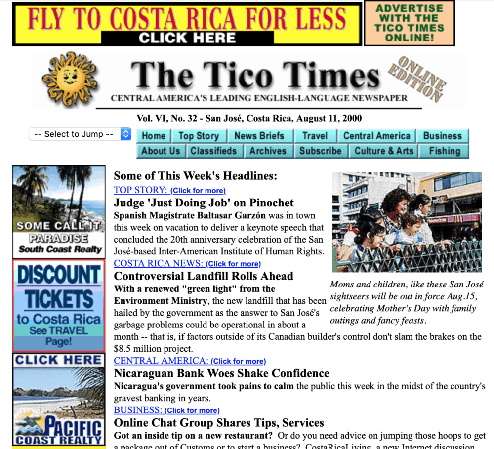 The Tico Times in 2000