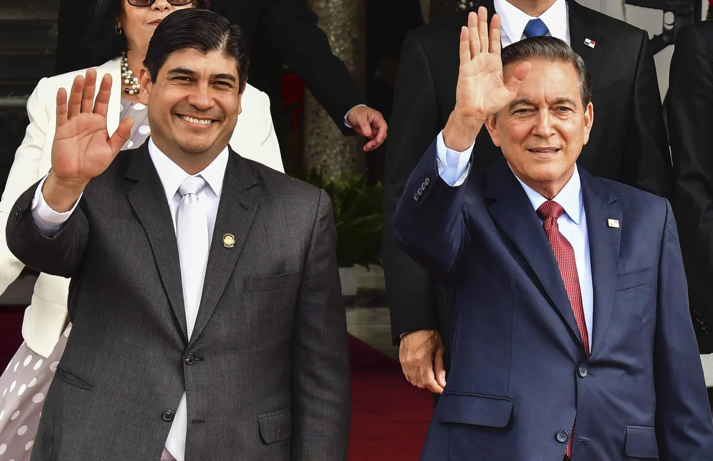 Carlos Alvarado and Laurentino Cortizo