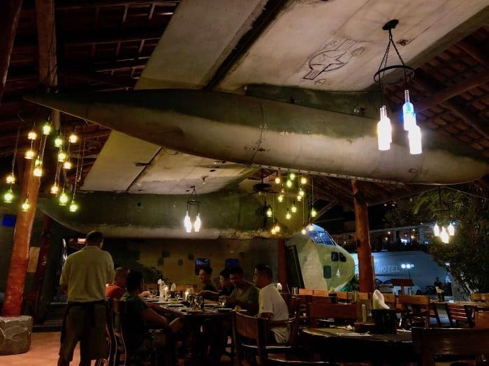 Scene at El Avión restaurant