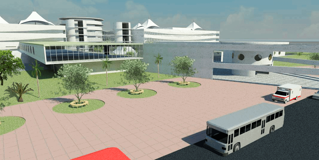Hospital Puntarenas rendering