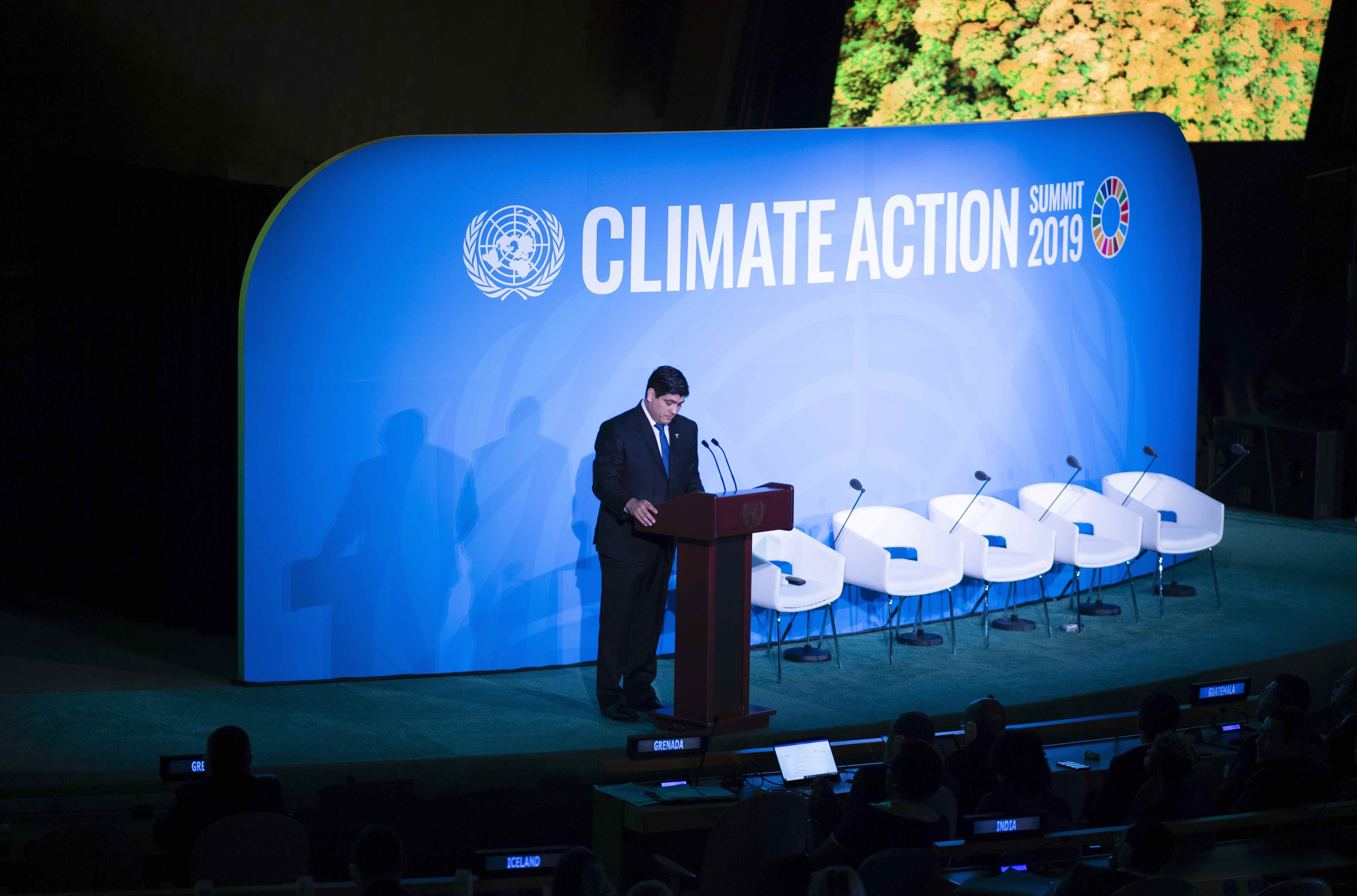 Carlos Alvarado speaks on climate change