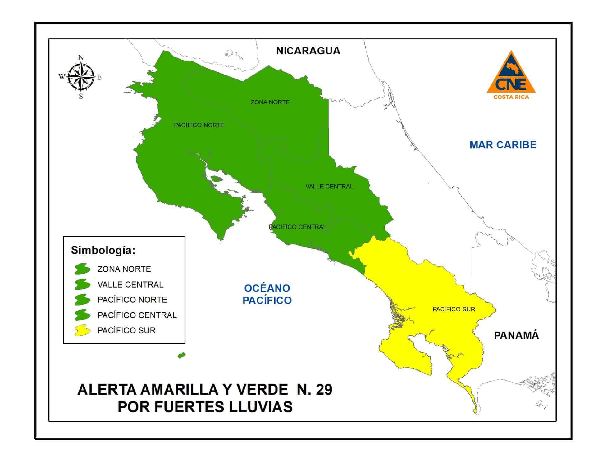 Costa Rica weather alert