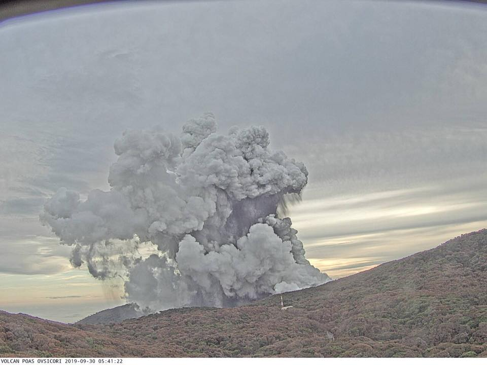Poás Volcano eruption