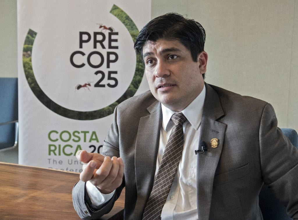 Carlos Alvarado at PreCOP25