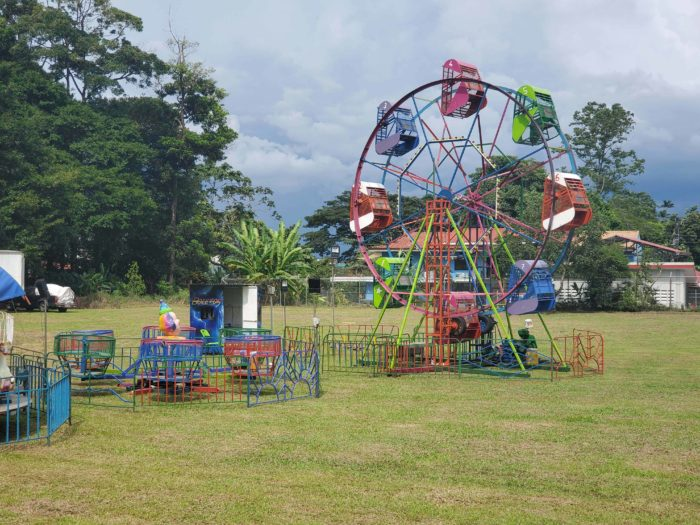 A Ferris wheel for children to ride