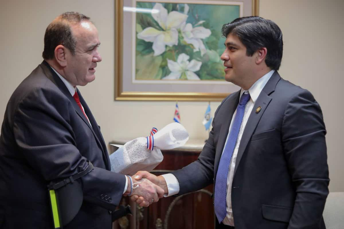 Carlos Alvarado and Alejandro Giammattei