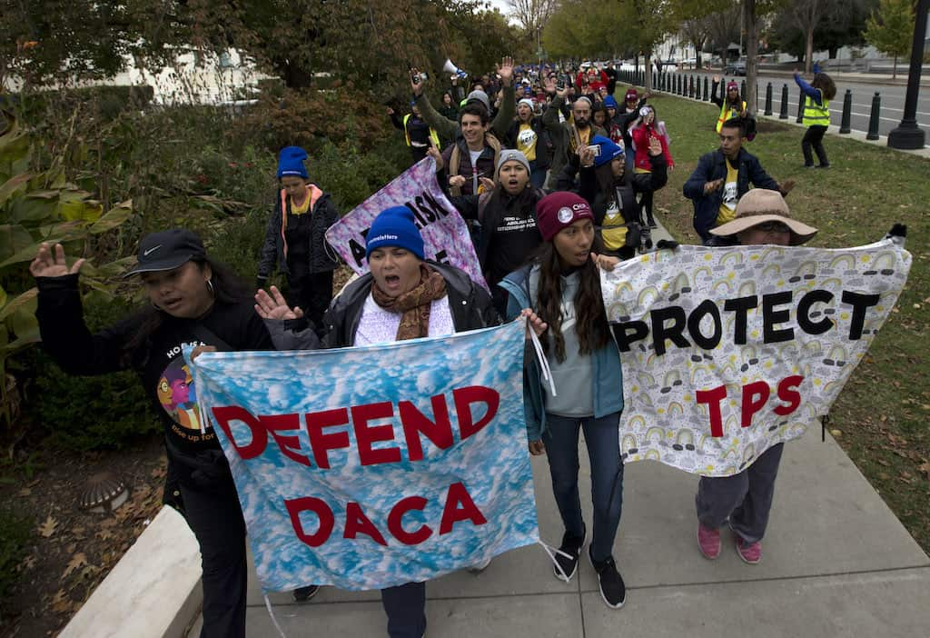 Undocumented immigrants march from eastern Maryland to Supreme Court in DC ahead of decision on DACA and TPS