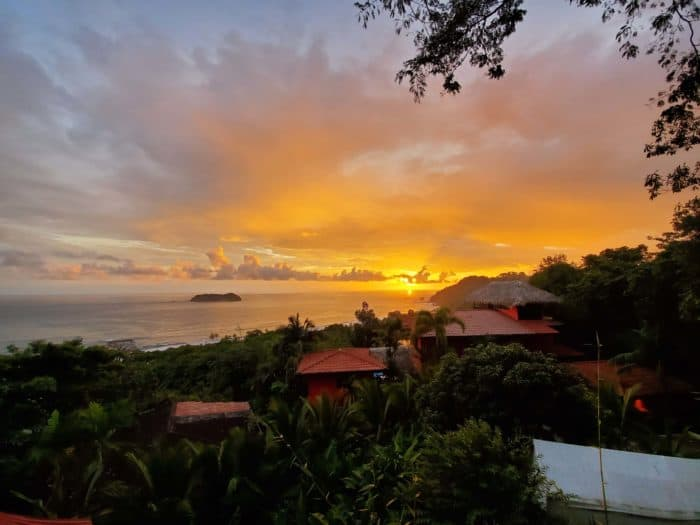 Sunset over Manuel Antonio beach