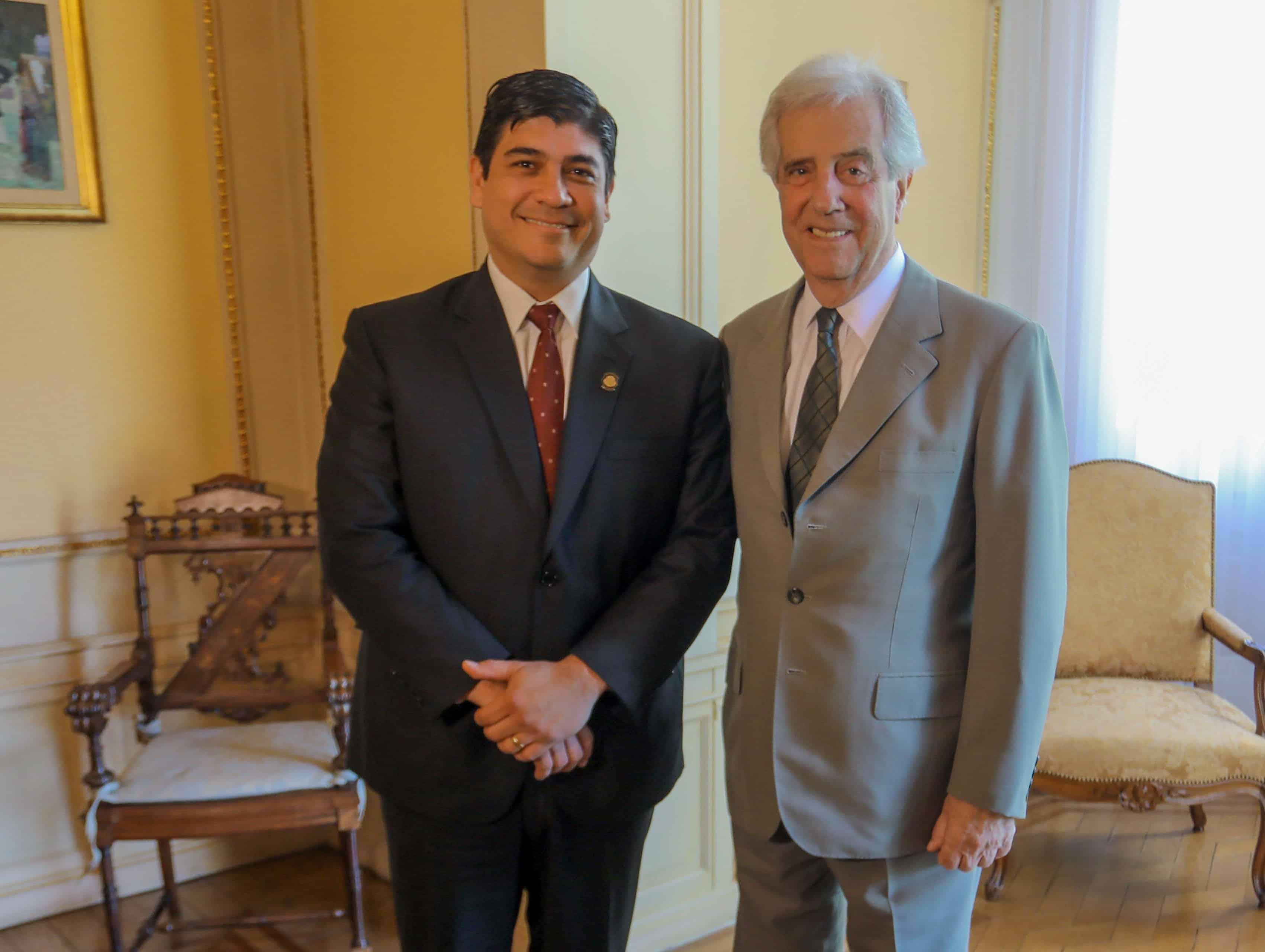 Carlos Alvarado and Tabaré Vázquez