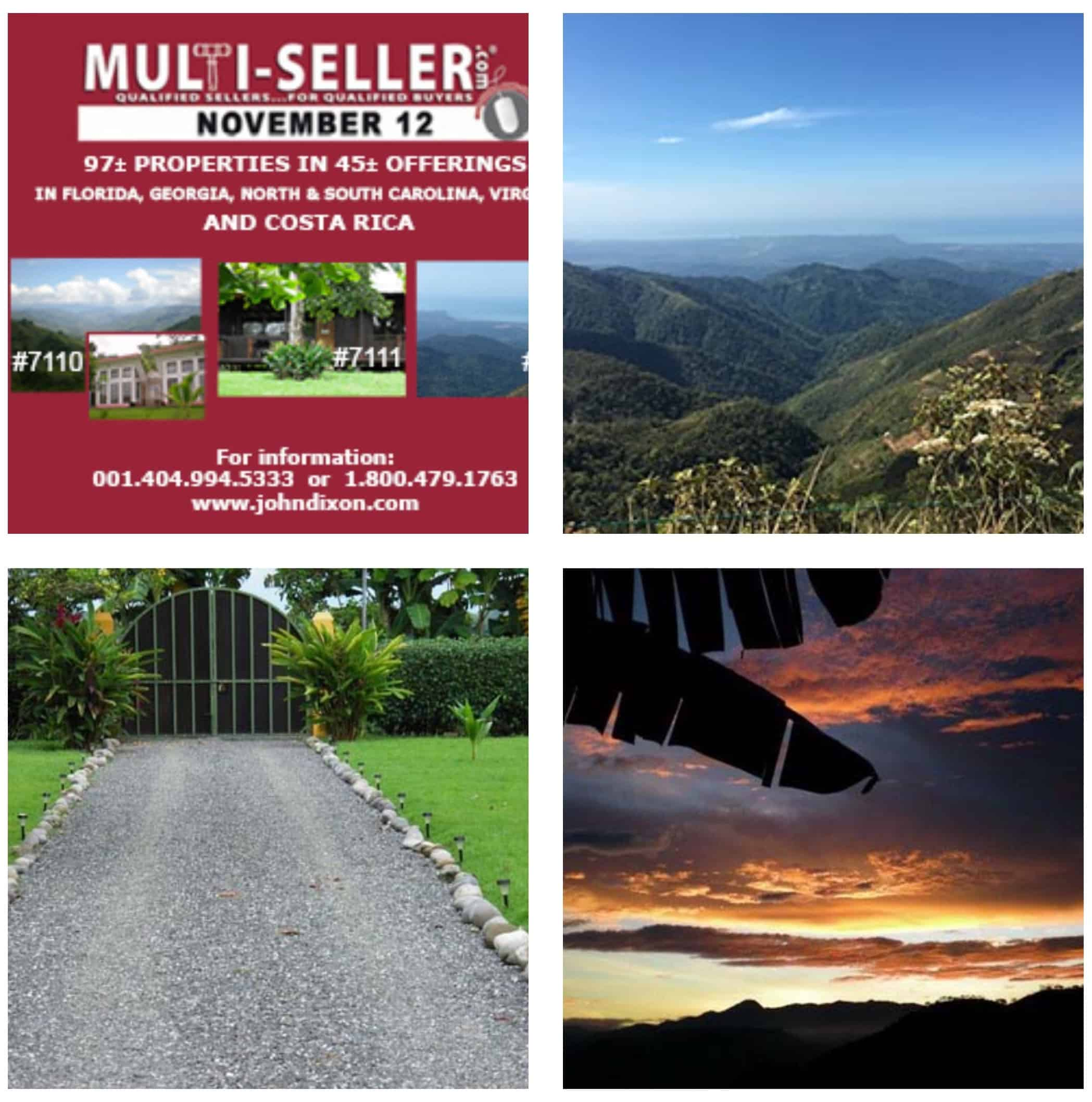 Multi-seller real estate auction includes three properties in Costa Rica listed here