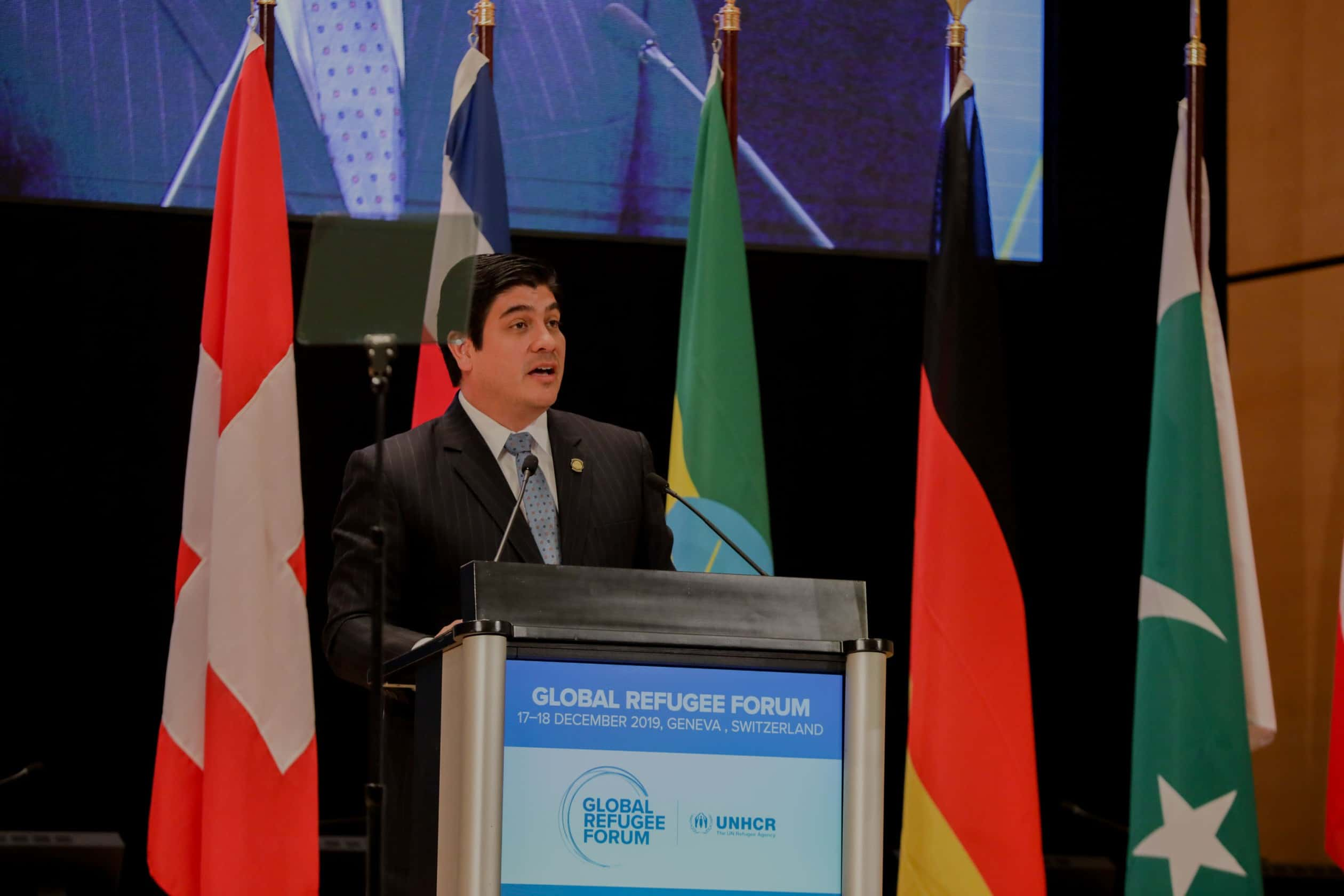 Carlos Alvarado at the Refugee Forum