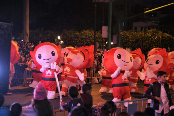 Performers in the parade