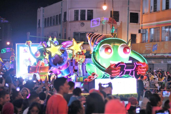 The Kolbi float at the Festival de la Luz
