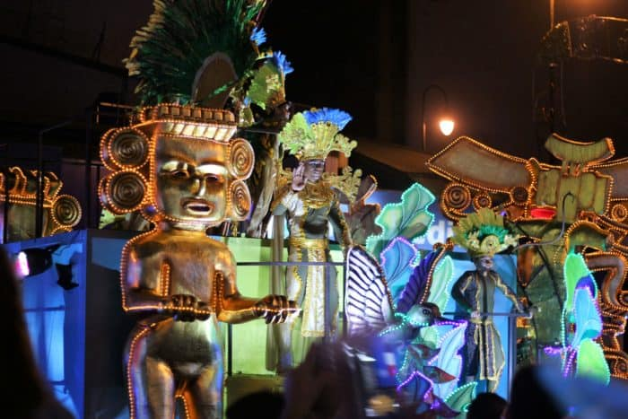 An Egyptian-themed float in the parade