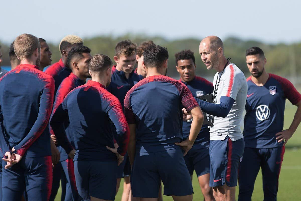 U.S. Men's Soccer training