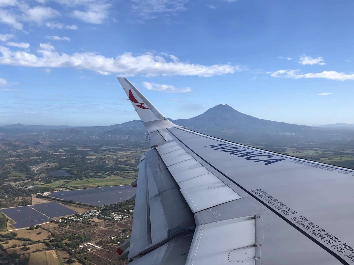 Departing El Salvador on Avianca