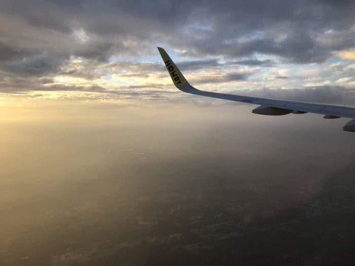 Sunset on descent into Fort Lauderdale